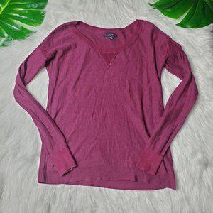 American Eagle Womens Burgundy Long Sleeve Shirt